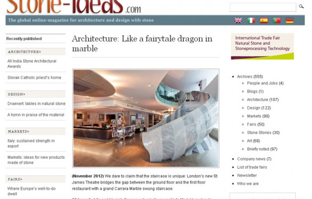 Stone Ideas.com Nov 2012 – Architecture: Like a fairytale dragon in marble