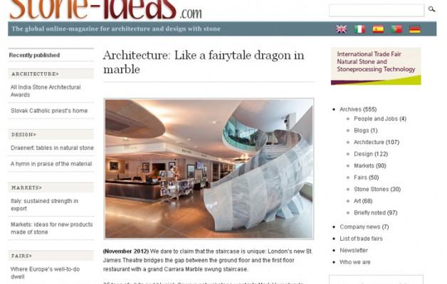 Stone Ideas.com Nov 2012 – Architecture: Like a fairytale dragon in marble